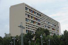 """Die """"Unité d'habitation"""" (Wohneinheit) von Le Corbusier sollte auf der ganzen Welt gebaut werden. Hier das Berliner Exemplar von 1958"""