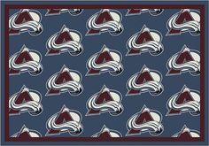 Colorado Avalanche Repeat Logo Area Rug