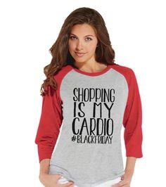 Christmas Dinosaur Shirt - Ladies Baseball Tee - Red Raglan Shirt - Funny Christmas Outfit - Dino T Rex Shirt - Holiday Gift Idea Valentines Day Shirts, Valentines Gifts For Her, Funny Valentine, Dinosaur Valentines, Valentines Outfits, Dinosaur Birthday, Dinner Shirts, Christmas Tops, Womens Christmas