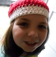 SALE, Beanie Hat, Crochet hat, Red and White, Beanie Cap, hat for women, Womens hat, winter hat, handmade hat, crochet clothing, crochet cap