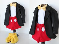boys mickey mouse costume hopefully I can find everything here for Isaac. Cause those costumes are ugly! Diy Mickey Mouse Costume, Mickey Mouse Outfit, Mickey Mouse Halloween, Mickey Mouse Birthday, Disney Halloween, Couple Halloween, Baby Mickey, Minnie, Fantasia Mickey Mouse
