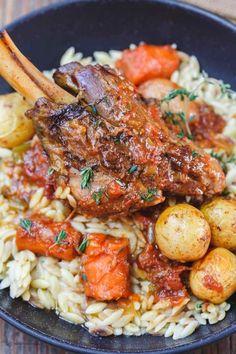 Lamb Recipes, Greek Recipes, Meat Recipes, Cooker Recipes, Healthy Recipes, Turkish Recipes, Wine Recipes, Chicken Recipes, Mediterranean Dishes