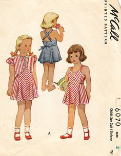 Vintage Toddlers and Girls' Sun Dress and by BettieJoVintage