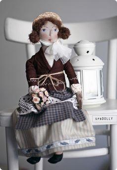 LA FEMME - кукла текстильная интерьерная - кукла,Франция,прованс,стиль