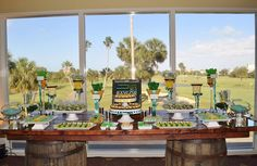 Incorporate some Baylor into your wedding with a Baylor-themed treat bar!