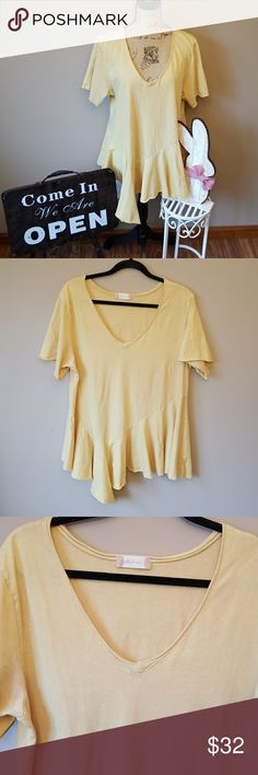 """Altar'd State sz LG  Mustard yellow top 💖Armpit to Armpit 19"""" 💖Length 30"""" 💖 Altar'd State sz Lg Altar'd  state size large  Mustard yellow shorts Levy knack talk that beautiful yellow color that's very in right now. Started bottom loose fit.  Excellent condition  💞 Thank you for visiting my closet please feel free to check out the rest of my closet I carry 0-5X👜 D Altar'd State Tops Tees - Short Sleeve"""