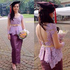 """Repost from and Kebaya Lace, Kebaya Brokat, Dress Brokat, Batik Kebaya, Kebaya Dress, Batik Dress, Kimono, Kebaya Moden, Modern Kebaya"