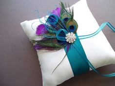 Peacock Ring Bearer Pillow (another idea)