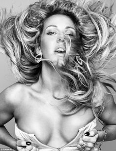 Raunchy: Ellie Goulding poses for a stunning black and white shot in the latest edition of biannual magazine Hunger