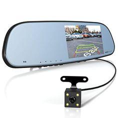 Wireless Backup Camera and Monitor for car Wide 150 Degree Waterproof Night Vision Rear View Camera Buyee 7 LCD Mirror Digital Display