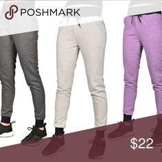 (Juniors) Solid joggers with ribbed trim Stylish and practical, these jogger sweatpants are equally useful for lounging at home or hanging with friends. Fashionable, slim fit style, soft French terry fabric, drawstring waistband, ribbed hems, 65% cotton and 35% polyester. This listing is for the light gray Pants Track Pants & Joggers