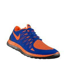 I designed this at NIKEiD MY DREAM SHOE!!!! Orange and Blue Running Shoes Auburn Colored @Rachel Wade