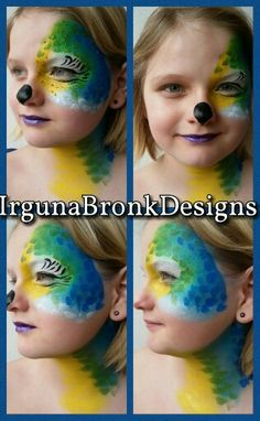 Parrot facepaint Www.facebook.com/IrgunaBronkDesigns