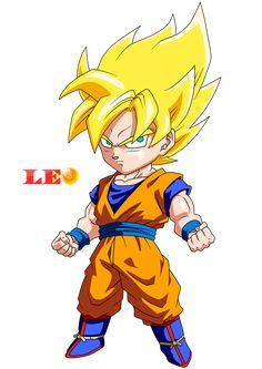 Chibi Goku Saiyan by Link-LeoB on DeviantArt