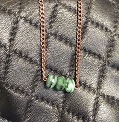 Handmade Firepolished Tigereye Gemstone Rosegold Tone Chain Necklace - Simple Hobo Bohemian Necklace
