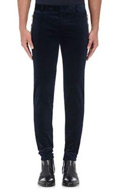BALMAIN Cotton-Blend Velvet Leggings. #balmain #cloth #leggings