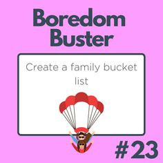 There are PLENTY of things to add to a family bucket list . Get Creative! Bucket List Family, Create A Family, Boredom Busters, Playing Cards, Ads, Creative, Playing Card Games, Game Cards, Playing Card