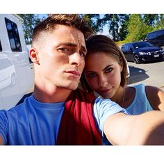Willa Holland and Colton Haynes. Roy and Thea just got back together damn it! #Arrow