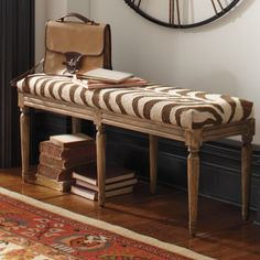 Naomi Kilim Bench is a work of art you can sit on. It creates an exotic oasis in a hallway or at the foot of the bed.