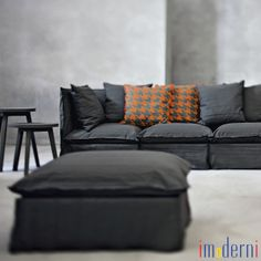 maurice&mariette ♡ gervasoni + by nord Ottoman Sofa, Couch, Textile Texture, Industrial Chic, Modern Furniture, Love Seat, Shabby Chic, Indoor, Contemporary