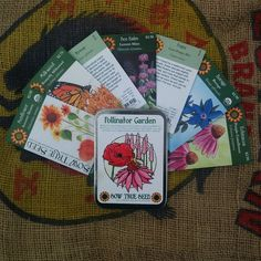 Themed garden seed collection – Pollinator Garden: What's the easiest thing you can do to help our precious pollinators? Plant flowers of course! These 7 flowers will not only beautify your yard, but will make every bee and butterfly in your neighborhood flutter with joy! Includes packets of: Lemon Mint Bee Balm, Anise Hyssop ORG, Butterfly Milkweed Asclepias, Autumn Beauty Sunflower, Purple Coneflower Echinacea, Borage, Corn Poppy Mix #GardenGift