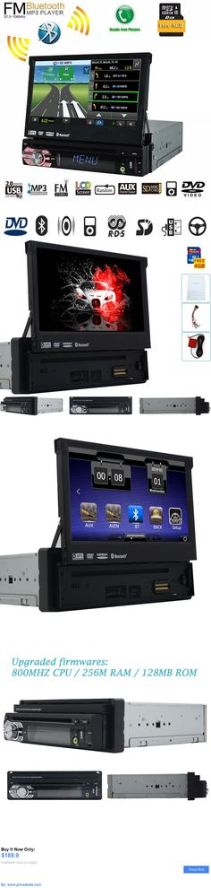 Car Audio Video And GPS: 7 Touchscreen 1Din Car Stereo Cd/Dvd Player Bluetooth Audio Video Head Unit Gps BUY IT NOW ONLY: $189.9 #priceabateCarAudioVideoAndGPS OR #priceabate
