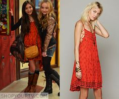 Girl Meets World: Season 1 Episode 1 Riley's Red Printed Dress - ShopYourTv