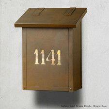 Classic Locking Wall Mounted Mailbox