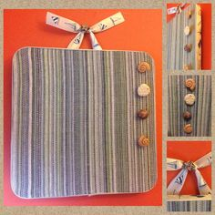 Message Center - Nautical Stripes & Sea Shells Cork Memo Board -Cork picture display - Home organization - kitchen decor - home office decor by PoZiDesigns on Etsy https://www.etsy.com/listing/234269840/message-center-nautical-stripes-sea