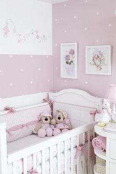Quarto de Bebê Rosée by Atelier Rastro de Tinta - Decoração de Quartos de Bebês - Guia do Bebê: