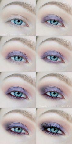 Make up. - makijaż ślubny w fioletach / step by step