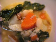 Sausage Beans and Kale Soup
