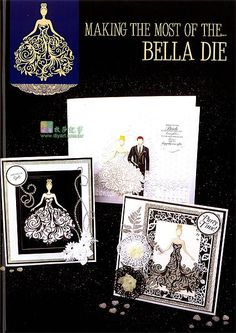 Debbie Moore, Art Deco Cards, Tattered Lace Cards, Dress Card, Spellbinders Cards, Birthday Cards For Women, Shaped Cards, Cricut Cards, Beautiful Handmade Cards