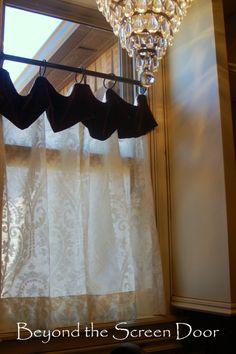 Velvet and Cream Laundry Room Cafe Curtain