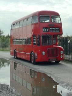 Red Midland Bus, Like a red London Bus but used in the Midlands! Blue Bus, Red Bus, London Transport, Public Transport, Bedford Buses, Automobile, Birmingham City Centre, Routemaster, Bus Terminal
