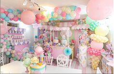 Candy Theme Birthday Party, Donut Birthday Parties, Candy Party, Birthday Party Decorations, Ice Cream Party, Balloons, Party Ideas, Baby Shower, Sweet