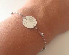 Bracciale con catena in acciaio con perline e di DettaglidiModa