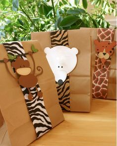 bolsas de papel kraft decoradas - Buscar con Google