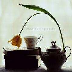 Flower, Books and Tea