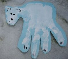 A Keepsake Polar Bear Handprint  Project You can make with your kids!