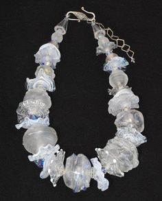 Handmade Hollow Glass Bead Necklace