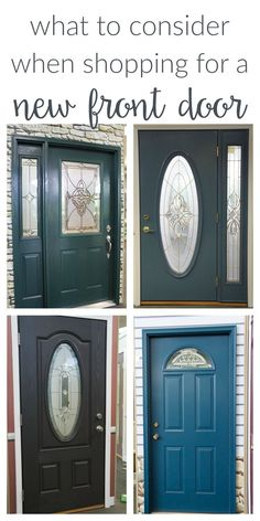 Selecting a new front door? Keep these tips and ideas in mind when choosing a new entry door for your home. Style, colors, glass design, etc. #ad #sponsored