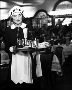 In a Mayfair drawing room (1930) Maid at window, Kensington (1936) Parlourmaid prepares bath (1939) Parlourmaid and under-parlourmaid rea...