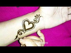 Heart ❤️ Tattoo Mehndi Design for wrist - YouTube