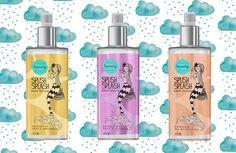 Os body splashes da The Beauty Box vêm nas fragrâncias mais famosas da marca (da esq. pra dir): Suspiro de Pêra e Magnólia, Buquê de Íris e Jasmin e Bombom de Baunilha (R$ 54,90 cada)