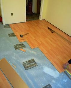 DIY Network has step-by-step instructions on how to rip out old carpeting and install a snap-together, floating floor.