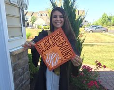 I made this Virginia Tech graduation cap with this monogram!