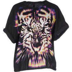 Motel Rocks T-shirt ($50) ❤ liked on Polyvore featuring tops, t-shirts, black, black pocket t shirt, short sleeve pocket tee, black top, black pocket tee and black short sleeve top
