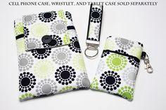 Fabric Smartphone wallet, iPhone 5 wallet, Iphone 4 4s wallet, Iphone wallet, ipod Wallet, Teenage Girl Gift, Samsung Galaxy-Ferrace Wheels. $19.99, via Etsy.