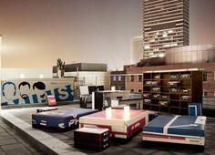 25hours Hotel Frankfurt by Levi's Dachterrasse